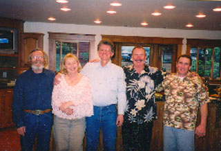 Bob Bianco and his team with Mr. and Mrs. Kelly
