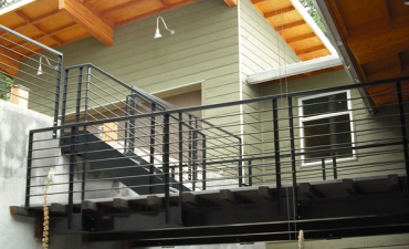 Modern stair and railing treatments