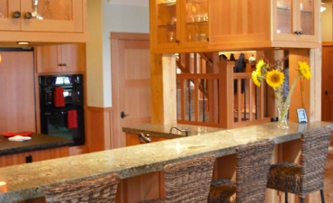 Modern dining bar in kitchen